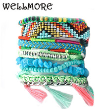 beads bracelet stone tassel chram bracelets & bangles have S/M/LSize fashion bracelets for women manchette B1662(China)
