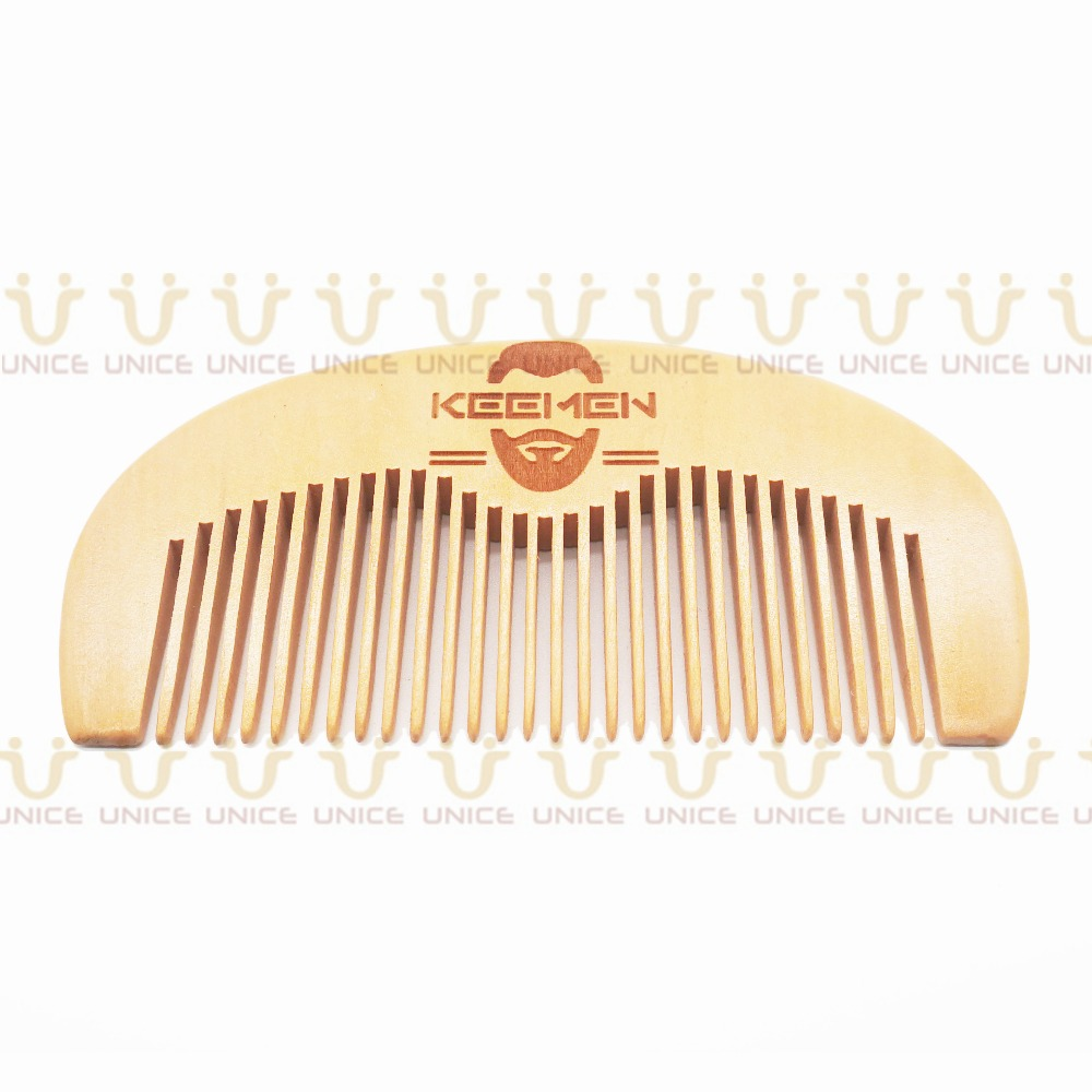 100pcs/lot Your LOGO Customized Private Label Combs Hair Beard Wood Comb for Men & Women for Barber Shop Retail Case 8
