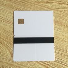 10pcs white PVC card with SLE4428 chip contact smart card hotel key card ISO7816 with Hico magnetic stripe