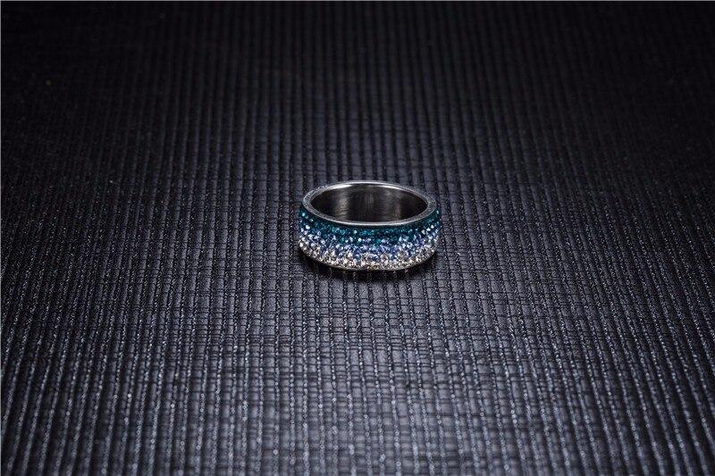 Gradient Color Zircon Ring