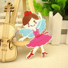 Cartoon buiter lamination ironing applique embroidery patch dazzle dance Decorated tag to stick The ballet girl scrapbooking