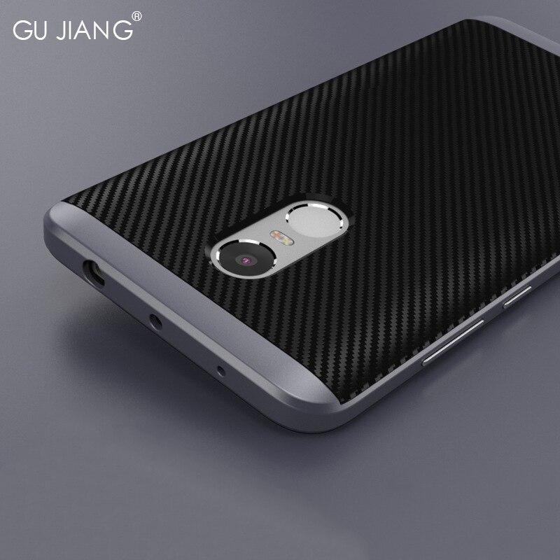 GU JIANG Brand Luxury Xiaomi Redmi Note 4 Case Sil...
