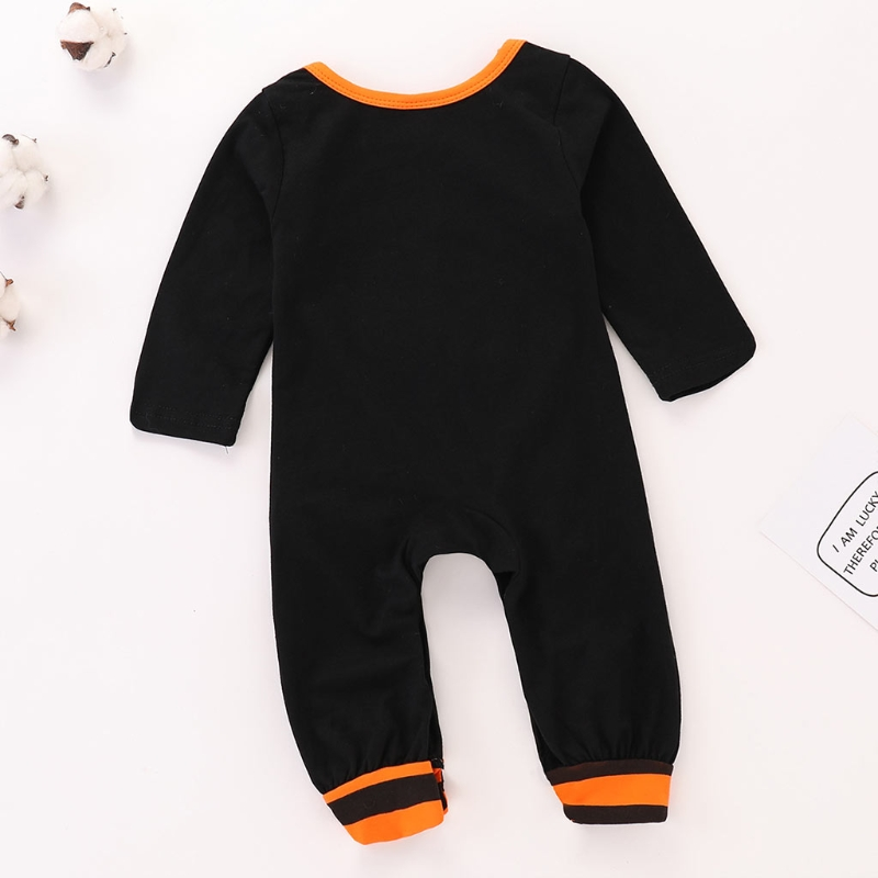 Baby Boy Girl Long Sleeve Bodysuit Clothes Halloween Cute Ghost Letters