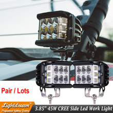 2Pcs Led Offroad 45W Side Shots POD Cubes LED Spot Light 45W led side lights used for SUV ATV Truck Car 120 Degree Side Shot(China)