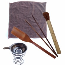Tea Tools 6 Pcs Set Gongfu Tea Ceremony Tea Accessories very important tools for gong fu tea ceremony must have tools(China)