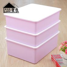 3pcs Plastic Underwear Storage Box,  , Household Drawer Type Finishing Box, Thick Cover  Plastic Storage Box