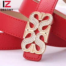 DESTINY Women Leather Belts Designer Brand Luxury Girls Ladies Female Belt Waist For Wedding Dress Jeans Ceinture Femme Vestidos
