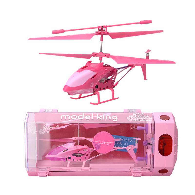 New 3.5 Channel Mini RC Indoor Helicopter Shatter Resistant Remote Control RC Drone Aircraft girl RC Toy Gift Free
