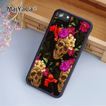 MaiYaCa Floral Skull Flower Rose soft mobile cell Phone Case Cover For Samsung Galaxy S7 Edge Custom DIY cases(China)