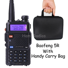 BaoFeng UV-5R with handy carry bag walkie taklie transceiver 5W VHF UHF Dual Band 136-174/400-520 MHz Ham CB FM two way radio