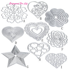 Flower Heart Metal Cutting Dies 2017 Hot Wholesale Superior Quality  Stencils DIY Scrapbooking Album Paper Card Craft Feb 7