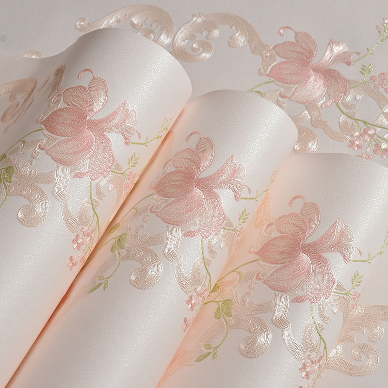 Hot selling 3D Vintage Classic Modern flowers Damask Wallpapers Roll For Living Room Bedroom papel de parede Wallpaper Rolls<br>