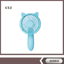 Cartoon Folding Mini Fan Charging Charging Portable Small Hand-held Fan Children(China)