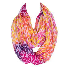 DaGuanJing 180*52cms Colorful 2017 Design France Style Women Scarf Ring Voile  Femme Autumn Winter Loop Infinity Echarpe Cape