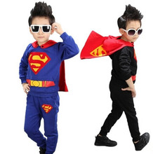 super hero costume for boys superman suit black suit superman boys birthday gift halloween cosplay costumes kids sport costume
