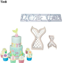 Buy New Ocean Mermaid Fondant Mold Plastic Cookie Cutter DIY Cake Baking Mold Kitchen Pastry Tool Fondant Cake Decorating Tools Set for $1.16 in AliExpress store