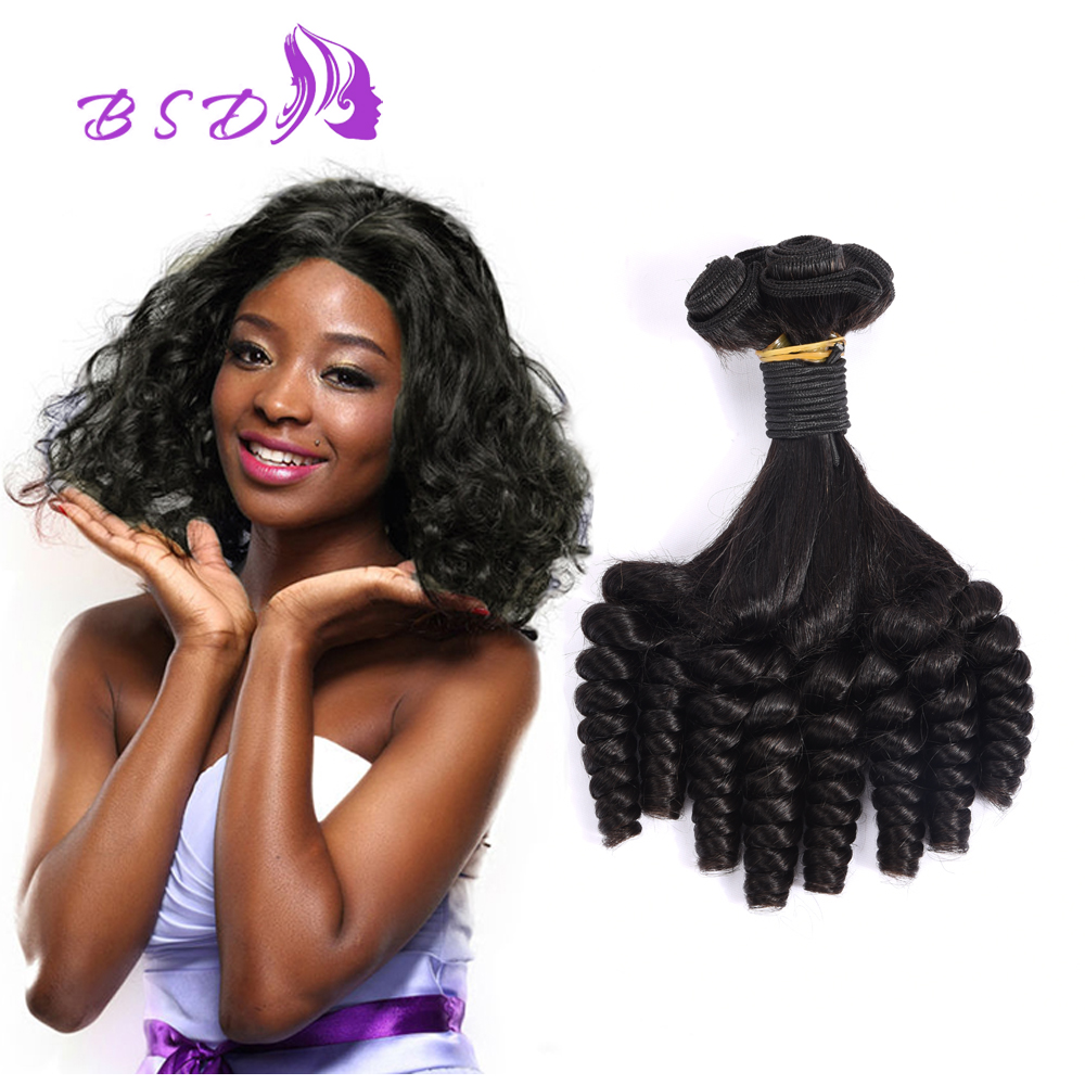 8A Brazilian virgin Hair Aunty Fumi Hair 4 Bundles Aunty Bouncy Curls Human Spiral Curl Weave Brazilian Short Hair Weave<br><br>Aliexpress