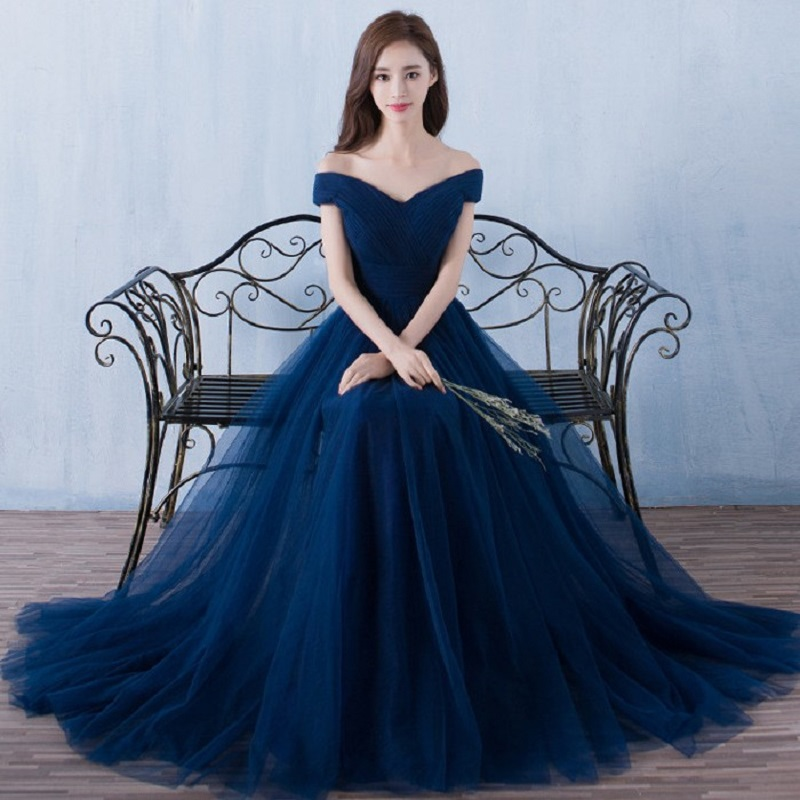 Beauty Emily Elegant Backless Long Royal Blue Evening Dresses 2019  Lace Up Party Maxi Dress Formal Prom Party Dresses(China)