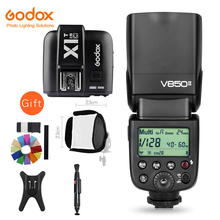 Godox V850II GN60 Li-ion Battery 2.4G Wirless X System Speedlite Flash + X1T-C/N/S/F/O Trigger For Canon Nikon Sony Fuji Olympus(China)