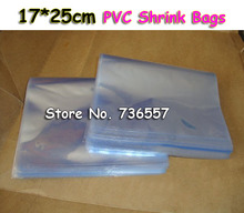 100Pcs 6.7x9.8Inch(17x25cm) Soft Transparent Blow Molding PVC Heat Shrinkable Bags Film Wrap Cosmetic Packaging Wrap Materials