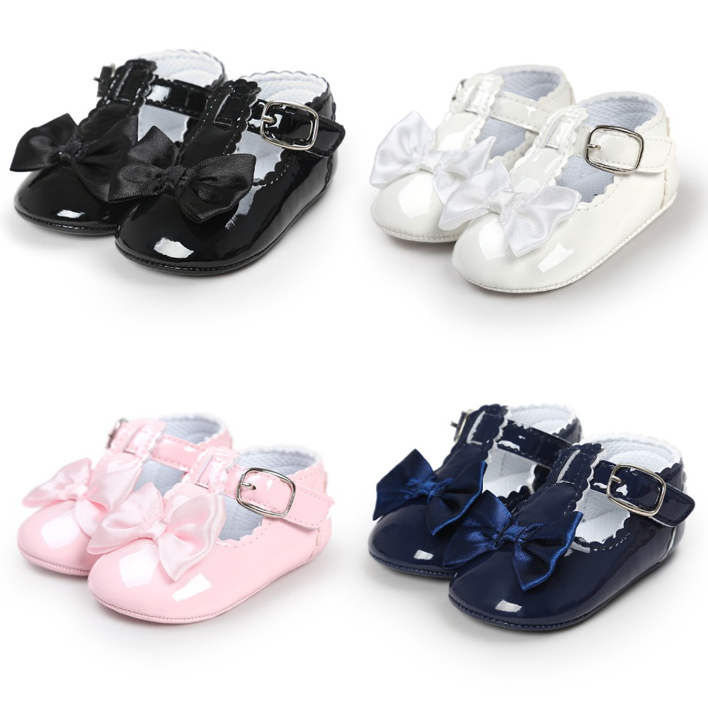 Newborn Baby Boy Girl Soft Sole T Bar Crib Shoes Toddler Mary Jane Shoes 0-18 M