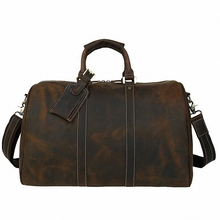 Crazy Horse genuine Leather men bag travel duffle tote 2017 Hot!Large capacity vintage genuine leather men's travel bags LI-1827
