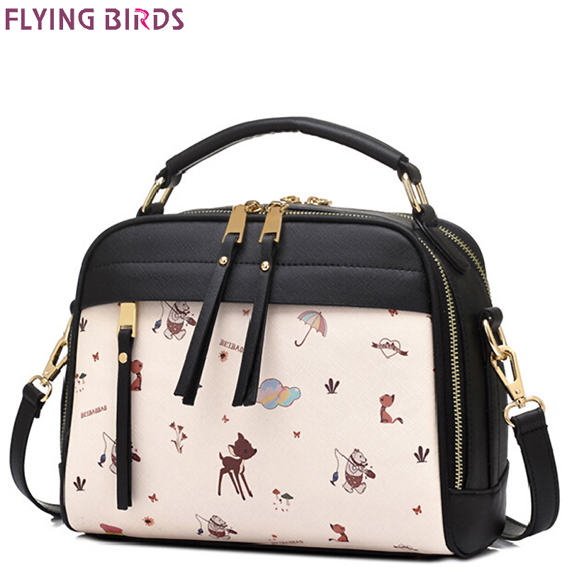 FLYING BIRDS women messenger bags crossbody tote printing pouch women bag cute purse leather bag ladies high quality LM4128fb<br><br>Aliexpress