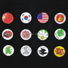 "Free Shipping 2017 New Arrival 12 Kinds Golf Ball Marker Golf Cap Clip Alloy Professional 1.18"" Wholesale"
