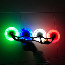 8 pieces LED Flash Inline Speed Skating Wheel with Red Blue Green White 100mm 85A Durable PU Street Race Wheel Super Shine Light(China)