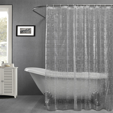 Plastic EAV embossing semi-transparent waterproof thicken shower curtains bathroom shower curtains,