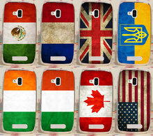 Retro National Flag Print Mexico France UK Ukraine Canada America Case Cover For Nokia Lumia 610 N610 Phone Cases Covers Shell