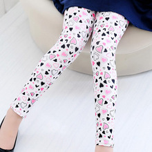 New Style Spring Autumn Children Leggings Flower Butterfly girls pants kids legging(China)