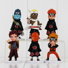 6Pcs/Lot Hot Sale Naruto Action Figure Set Figurine PVC Toy Action Figure 10-12cm Classic Toys Children Birthday Gift(China)