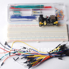 3.3V/5V Breadboard power module+MB-102 830 points Bread board kit +65 Flexible jumper wires+140pcs jumper wire box for arduino(China)