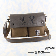 Free shipping Attack on Titan Shingeki no Kyojin Wings of Liberty logo fashion Leisure man woman bags canvas Handbags
