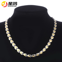 New Arrival Valentine's day gift Gold Color Stainless Steel Heart Chunky Chain Necklace For Unisex Jewelry Wholesale