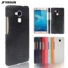 For Huawei Honor 7 LITE Case Crocodile Skin Print Case for Huawei Honor 7 LITE Cover PU Leather Protective Shell Phone Bag Coque(China)