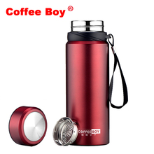 Vacuum Flasks & Thermoses TOP Brand 750ml thermo mug with tea strainers thermocup 304 Strainless Steel Insulation Best thermos(China)