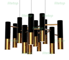 delightfull ike chandelier modern design pendant lamp suspension light dinning room living room restaurant black and gold color
