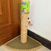Cat Toy Scratching Post Climbing Furniture With One Feather For Cat Play With Scratching Post For Cat(China)