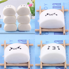 JETTING Kawaii Squishy Expression Steamed Bread Soft Buns Baby Kids Children Food Pretend Play Kitchen Toys Mobile Phone Strapes(China)