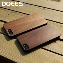 DOEES Wood Phone Cases For iPhone X 8 7 6S 6 Plus 5 5S SE Cover Natural Wood Hard Protective Case For iPhone X 5S SE 6S 7 8 Plus(China)