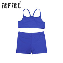 Infant Kids Chilren Girls Tankini Tank Top with Bottoms for Sports Gym Workout Swimming Bathing and Holiday Clothes Outfits Suit(China)