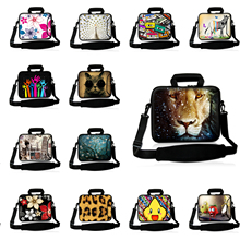 Neoprene 15 9.7 15.4 15.6 14 13 12 10 17 Inch Laptop Sleeve Netbook Computer PC Bag Messenger Cases with Handle & Shoulder Strap