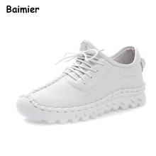 Buy 2018 Spring Women Genuine Leather Shoes High Handmade Comfortable Soft Flats Shoes Women Sport Leisure Casual Shoes for $36.66 in AliExpress store