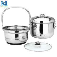 6.8L Large Volume Energy-saving Pot Stainless Steel Continue Cooking Pots Steamer Pan Multifunction Non-stick Cookware(China)