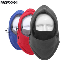 Winter Fleece Motorcycle Face Mask Warm Hats Double Color Layers Motorcycle Balaclava Unisex Bicycle Thermal  Balaclava Hat
