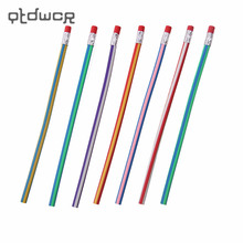 5PCS/lot Soft Pencil Colorful Magic Flexible Bendy Soft Pencil for Kids Student School Office Use(China)
