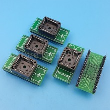 5Pcs PLCC32 TO DIP32 Pitch 1.27mm Simple Chip Programmer Adapter IC Test Socket