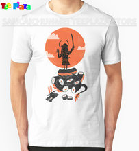 2017 Rushed Promotion Cotton Teeplaza Design Your Own T Shirt Online Men's Fashion O-neck Short-sleeve Samurai Sushi Shirts(China)